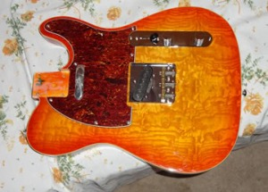 The Douglas Telecaster body before modifications.