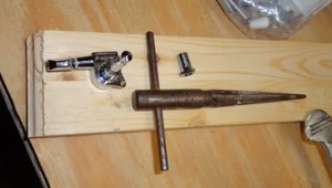 A reamer is shown with a tuner.